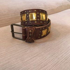 Vintage Betsey Johnson Genuine Leather Belt